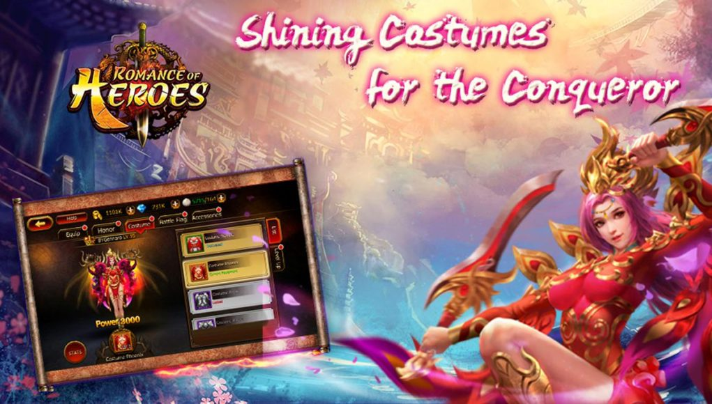 Romance of Heroes APK Mod Hack For Diamonds and Gold